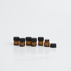 1/4 Dram Amber Vial (12 pack) Photo